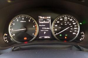 2019 Lexus NX-300 speedometer