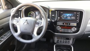 2019 Mitusbishi Outlander PHEV dashboard